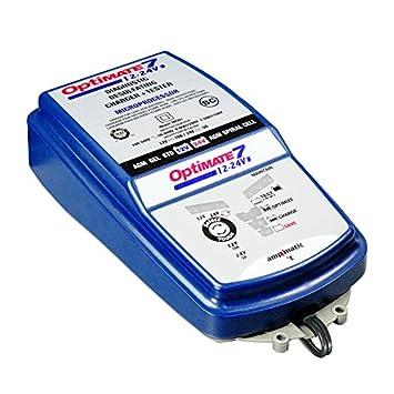 TecMate TM-260 Optimate 7 Cargador de baterías 12V-24V, Azul ...