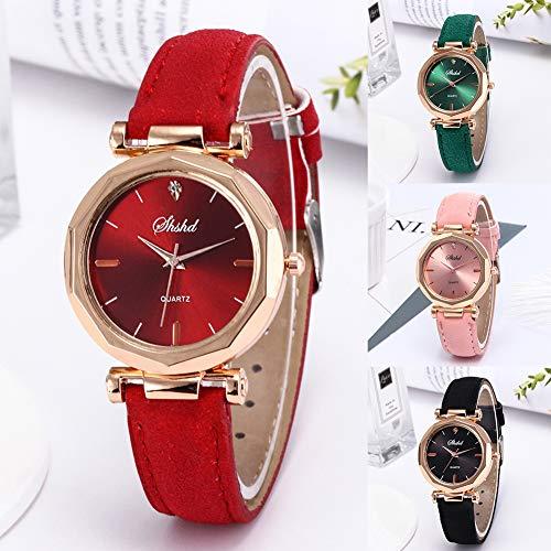 Women Watch Sale Clearance Vintage Matte Faux Leather Rhombus Rhinestones Quartz Soft Wrist Watch by Gaweb (Image #1)