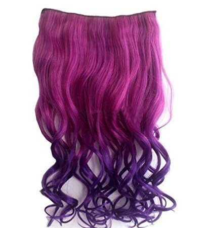 CJESLNA Fashion Sexy Two Tone Long Curl/curly/wavy Clip in H