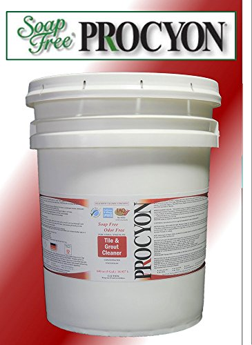 1 Each- 5 Gal. Pail (640 oz.)- Soap Free PROCYON Tile & Grout Cleaner Concentrate by Procyon