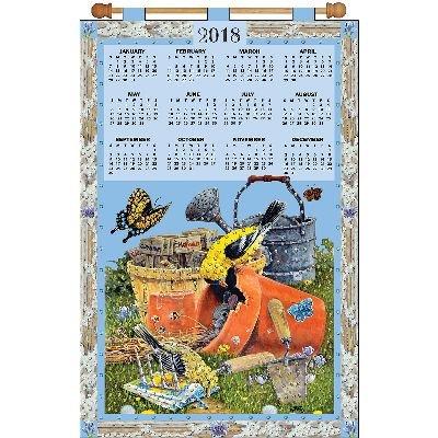 Tobin Design Works 2018 Calendar Felt Applique Kit-Gardening