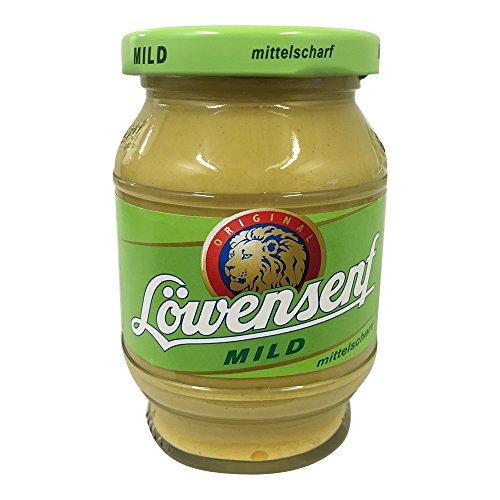 - Loewensenf Medium / Mild / Mittelscharf Glas Jar of 250 ml / 8,45 Oz