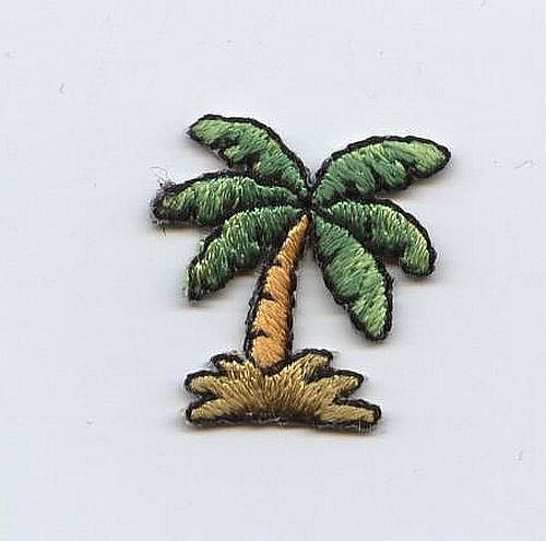 Small Palm Tree Iron on Embroidered - Iron On Palm Tree