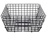 Steel Rear Wire Trike Basket Black.