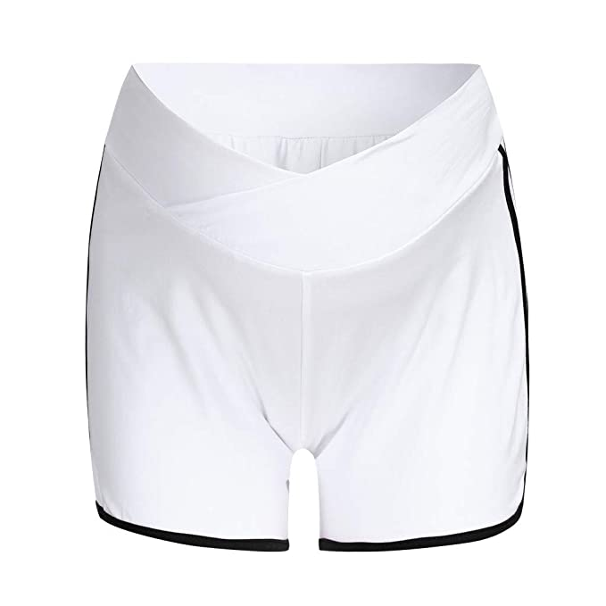 RISTHY Pantalones Cortos Premamá Pantalones de Deporte ...