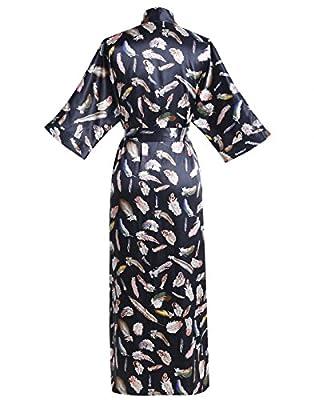 Find Dress Women's Kimono Long Robe Satin Floral Flower Sleepwear