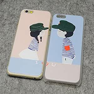 ZL The Lover Style Painted Relief Plastic Hard Back Cover for iPhone 6 Plus , 1#