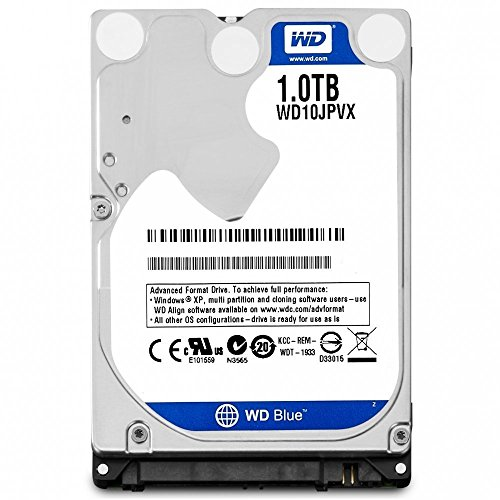 (WD 2016 New Blue 1TB 2.5 inches Laptop Notebook Internal SATA 6Gb/s Hard Drive 9.5mm Height 5400RPM Model WD10JPVX )