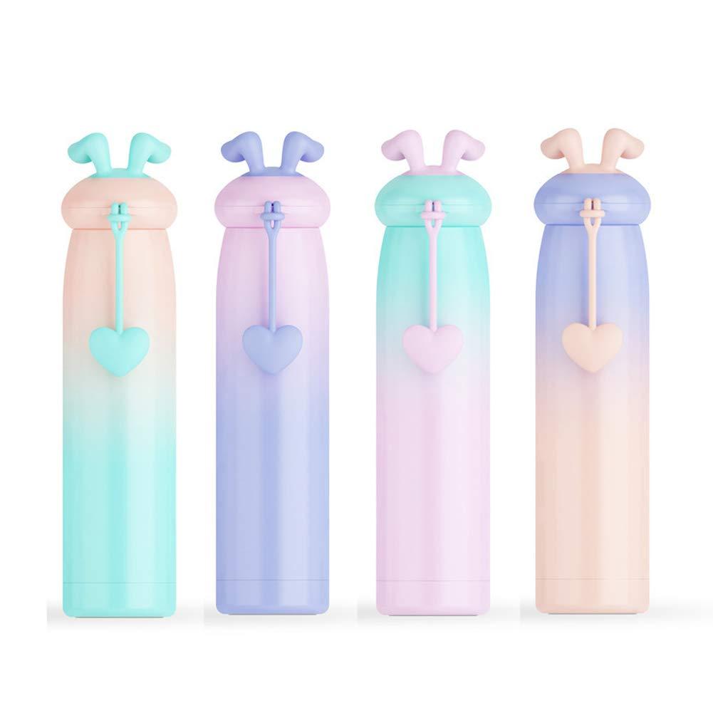 Thermos Cup Carino Gradient coniglio tazza di corsa per i bambini per adulti320ML(colore casuale)1PC Ouken