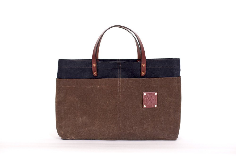 The Man Carry Waxed Canvas Brief Case by Sturdy Brothers