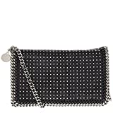 Stella McCartney Women's Studded Faux-Leather Crossbody Bag with Chain Strap Black