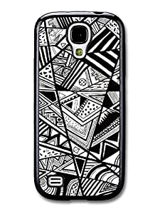 Cool Black and White Style Hipster Grunge Print Pattern Design carcasa de Samsung Galaxy S4 mini