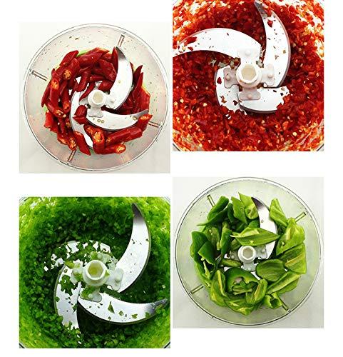 Tian Ran Dai Picadora Manual de Alimentos Compacta y Poderosa Picadora//batidora de vegetales de mano para cortar frutas//verduras//nueces//hierbas//cebollas//ajos para salsa//ensalada//pesto