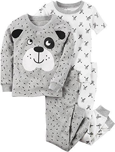 Dog Carters Pajamas - Carter's Boys' 3T-7 4 Piece Dog Face Pajama Set 12 Months