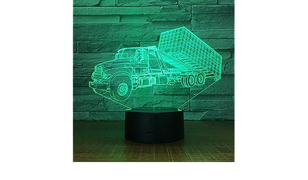KangYd 3d lampara de escritorio Gran camión, tren, transportador ...