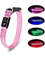 Led Flashing Dog Collar - 100% Waterproof Light Up Dog Collar, Safety Pet Collar - Flashing Light Collar for Small, Medium, Large Dogs