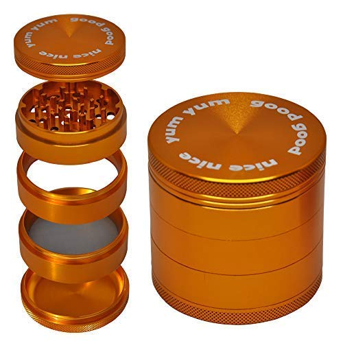 - Grinder for Herbs and Spices with Large Catcher 5 Piece 2.5
