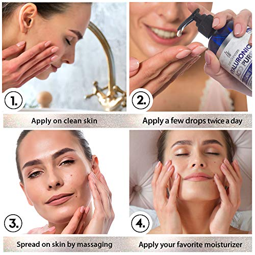 51ZVuK1beVL - Hyaluronic Acid for Face (2 oz) - 100% Pure Medical Quality Clinical Strength Formula - Anti aging formula for your skin
