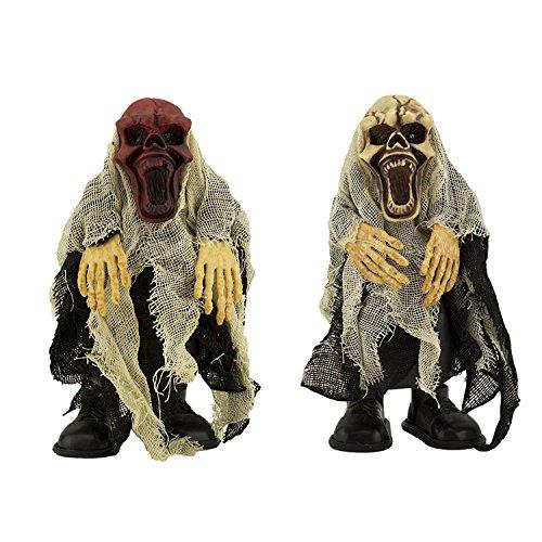 Adorox Walking Talking Light Up Animated Demon Skeleton Halloween Decoration Flashing