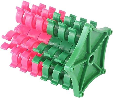 Kunststoff Spulenhalter Nähgarn Halter Storage Green /& White Handwerk