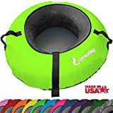 "Bradley Snow Tube Sled with 48"" Neon Green Cover"