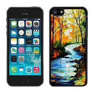 TPU Iphone 5c Case Landscape Black Soft Silicone Cover Mobile Phone Apple Accessories