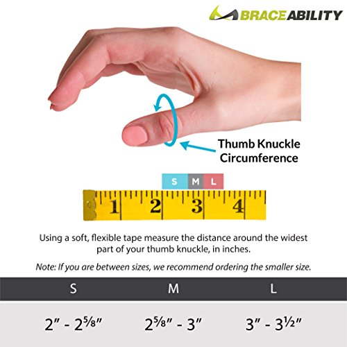 BraceAbility Hard Plastic Thumb Splint | Arthritis Treatment Brace to Immobilize & Stabilize CMC, Basal and MCP Joints for Trigger Thumb, Tendonitis Pain, Sprains (Medium - Left Hand) by BraceAbility (Image #1)