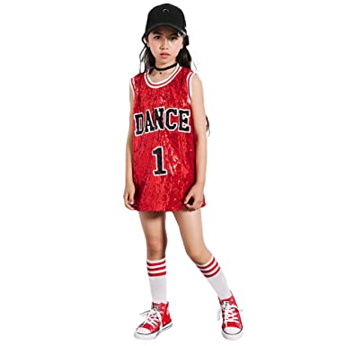 8ccf6e350c36 Amazon.com  LOLANTA Girls Sequins Costume Hip Hop Dancewear Sparkle ...