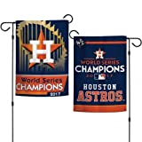 "WinCraft Houston Astros World Series Garden Flag 2 Sided Yard/Window Banner 12"" x 18"""