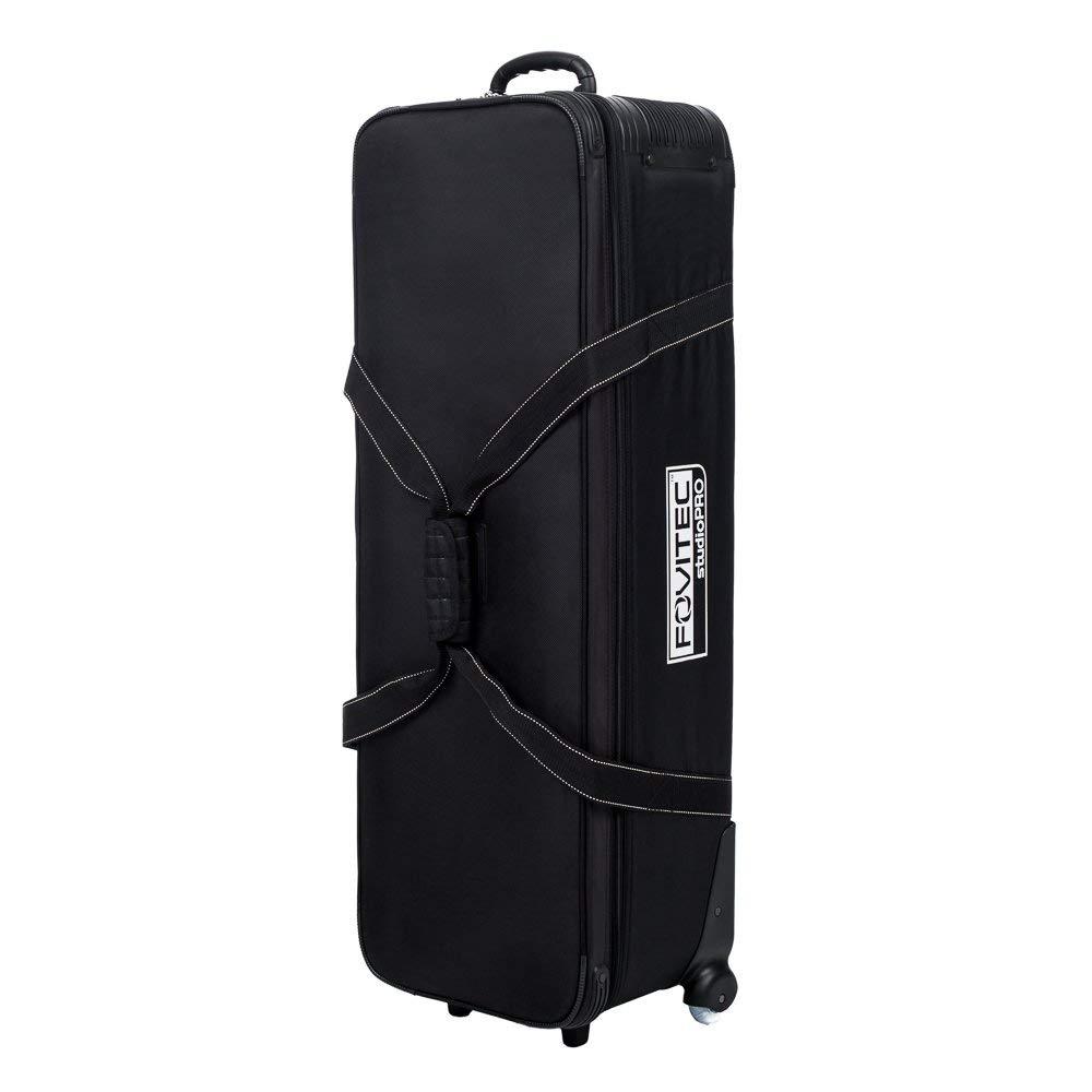 Fovitec - 1x Professional Photography & Video Lighting Equipment Roller Bag - [44'' x 14'' x 10''][EZ Glide Wheels][Durable Webbed Nylon][Fleece Lining] (Renewed)