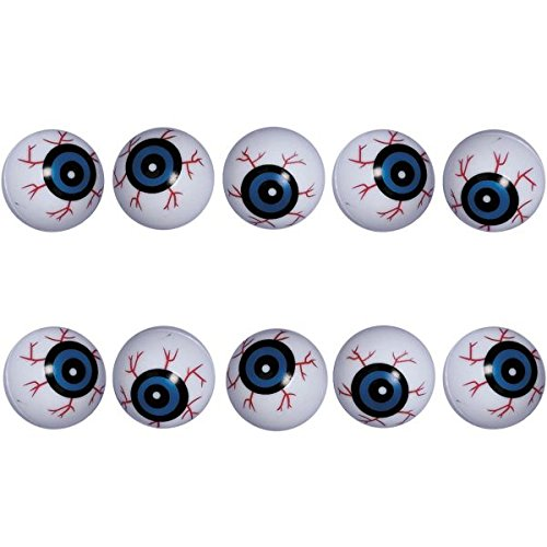 amazoncom family friendly halloween trick or treat creepy eyeballs party favour plastic 1 pack of 10 toys games - Halloween Ping Pong Balls
