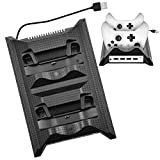 xbox elite cooling fan - Charging Station for Xbox, USB Charger Station Charging Stand HUB with Cooling Fan for Xbox One SLIM Console Black