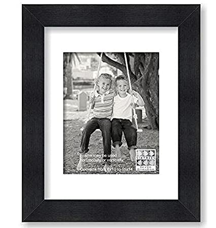 Amazon Sixtrees Modern Black Matted Frame 8 By 10 Inch