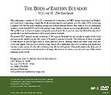The Birds of Eastern Ecuador, Volume 2: The