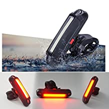 Xcellent Global USB Rechargeable Bicycle Taillights LED Bike Helmet Rear LED Light 100 Lumens LD100R
