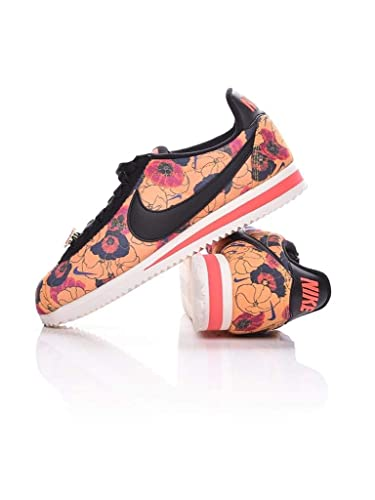cf6fa56485c6a Amazon.com | Nike Women's Classic Cortez LX (Floral) Black/White | Shoes