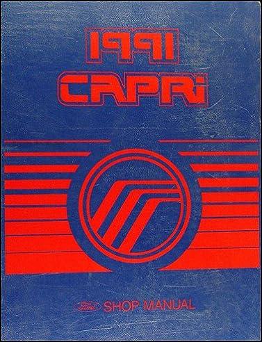 1991 mercury capri and xr2 repair shop manual original amazon com rh amazon com