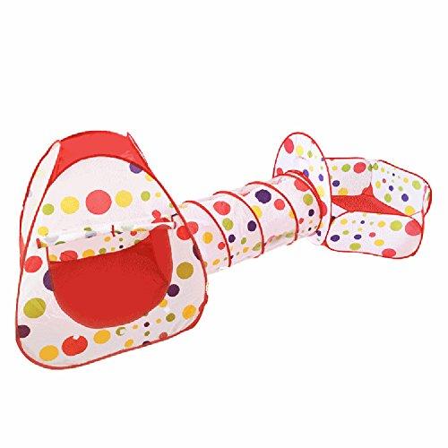 three-in-one Gran Casa Niños tienda interior Baby Toy Outdoor Game House Baby Crawling Taladro Sun Túnel Tubo Océano Piscina de bolas, red + color dot