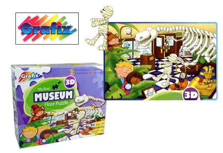Grafix 3D My First Museum Floor Puzzle 21 Piece Age 3+ Toys ...