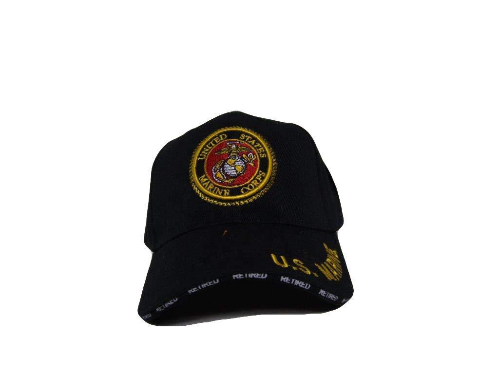ブラックUSMC海兵隊海兵隊served with pride Retired帽子ボールキャップ( Licensed )   B015I01Q7M