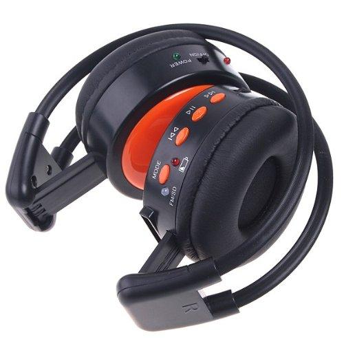 KINGZER Digital Wireless Stero Headphone FM SD / TF Music Player MP3 WMA WAV - Powerd Battery Cameras