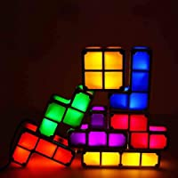 Table lamp Tetris Lamp 3D DIY Night Light, LED 7 Colors Induction Interlocking Desk Lamp for Creative Home Decoration and Gifts