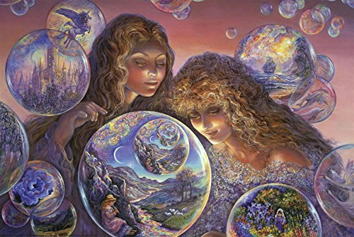 Bubble World Poster by Josephine Wall 36 x 24in
