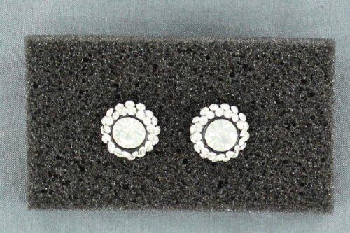 Fancy Concho (Blazin Roxx Women's Fancy Rhinestone Concho Earrings Silver One)