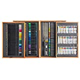 Brush Set Male Girl Birthday Christmas Gift Art Painting Supplies Set Color Lead Watercolor Crayon Art Set Brush 174 Pieces Wooden Box Set