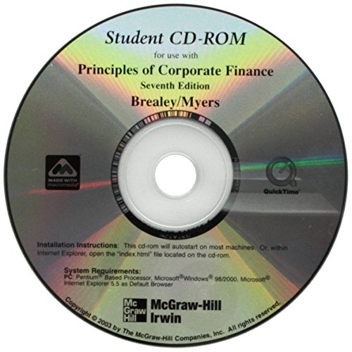 Student CD T/A Principles of Corporate Finance eBook / download