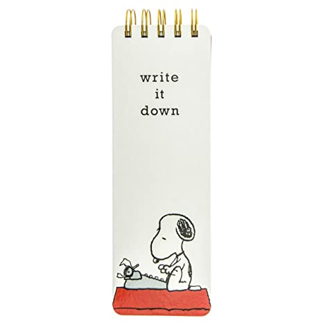 Graphique Peanuts Snoopy Typewriter Reporter Journal (WLP110)