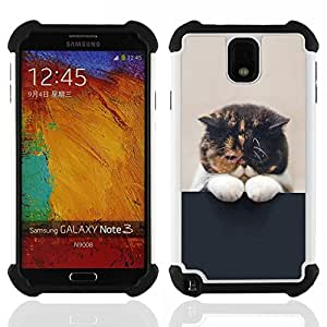 King Case - cute sleepy kitten cat pet feline paw - Cubierta de la caja protectora completa h???¡¯???€????€?????brido Body Armor Protecci?