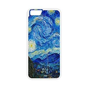 IPhone 6 Plus Case the Starry Night, Sexyass, [White]
