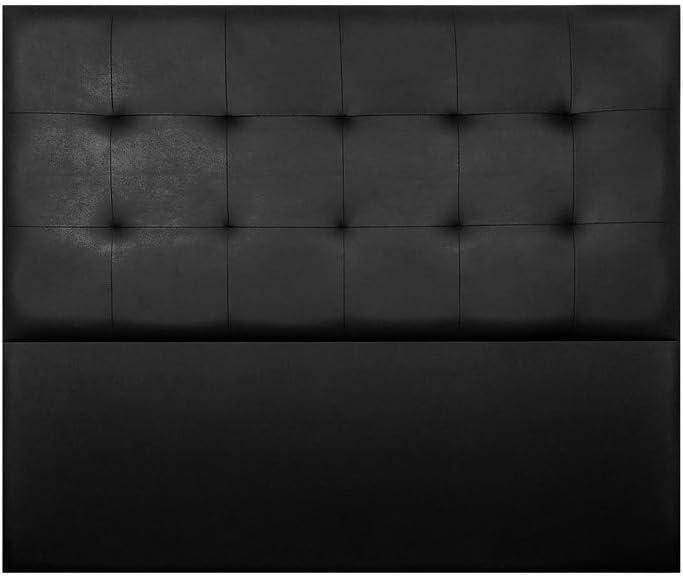 Cabecero de Cama Modelo Nairobi, tapizado en Polipiel Azahar. Pro Elite. (para Cama de 135 (145x120x8) en Color Negro)